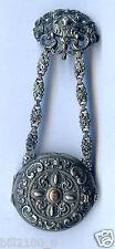 Chatelaine argent et vermeil pour montre gousset .Napoléon III. porte montre