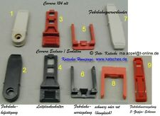 "Viele Leitplankenhalter rot, original ""alte"" Carrera 124 neuwertig"