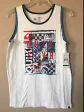 NEW QUIKSILVER BIG BOYS PROJECTION SLEEVELESS SHIRT TANK TOP T-SHIRT TEE SIZE M