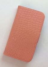 Luxury Salmon  Crocodile Skin Flip synthetic Leather Case For Samsung S4