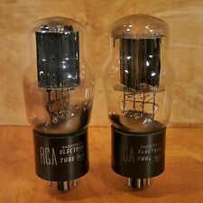 RCA 5V4G TUBE PAIR (2) 536 TESTED, TEST STRONG, EARLY RCA AMP