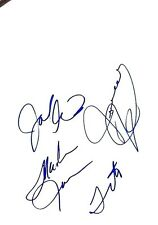 Tito Randy Marlin Jermaine, without  Michael  Jackson Signed Autograph 8 1/2x 11