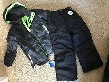 NWT Boys 5/6 ZEROXPOSUR Winter Coat Jacket Ski Snowboard Pants Green Camo $195