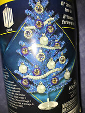 Doctor who   15 inch  doctor who tinsel  christmas tree and 18 dr who ornaments