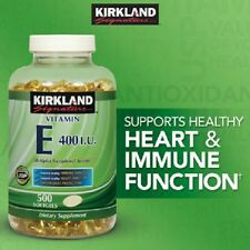 Kirkland Signature Vitamin E 400 IU, 500 Softgels, Strong Antioxidant Protection