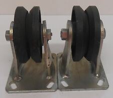 CASTER WHEEL, LOT OF 2, 4'', 1 1/2'' WIDTH, 6'' HEIGHT, 4 1/2'' X 4'', V-GROOVE