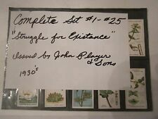 """1930'S  JOHN PLAYER & SONS """"STRUGGLE FOR EXISTENCE"""" TRADING CARDS #1-25 - RH-7"""