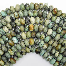 """10mm african turquoise rondelle beads 15.5"""" strand"""