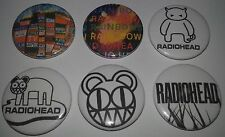 6 Radiohead badges Creep Pablo Honey The Bends Ok Computer Kid A In Rainbows