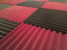 Studio Sound Proofing Acoustic Wedge Foam Tiles Wall Panels Vocal Booth 12x12x1