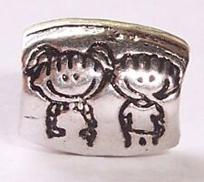 Girl Boy Twins Children Son Daughter Bead fits Silver European Charm Bracelets