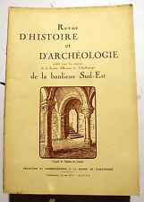 PARIS/BANLIEUE SUD-EST/REVUE D HISTOIRE ET D'ARCHEOLOGIE/JANVIER 1928