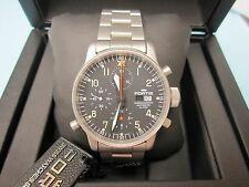Fortis Mens 599.10.11 M Flieger ETA 7750 Swiss Automatic Chronograph Alarm Watch