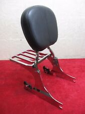 OEM HARLEY HERITAGE SOFTAIL DETACHABLE SISSY BAR WITH LUGGAGE RACK, CHROME