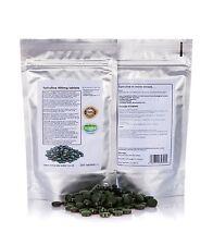 Spirulina pastillas 250 x 400mg 100% GMO Gratis desintoxicación