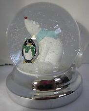Bath & and Body Works 3-Wick 14.5 oz Candle Topper Snow globe Polar Bear Penguin