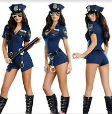 Sexy New Free Size Police Cop Uniform Fancy Dresses Halloween Costumes  Women