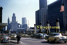 CHICAGO 1950s original photos on CD from  slides lots of street scenes