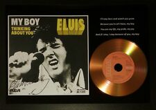 ELVIS PRESLEY 'MY BOY' SIGNED GOLD PRESENTATION DISC