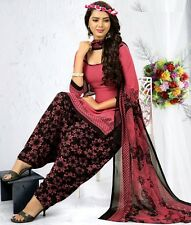 Elegant Crepe Designer Printed Patiala Unstitched Dress Material Suit.No GP241