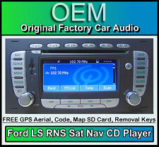 FORD KUGA SAT NAV CD Player, FORD LS RNS AUTO RADIO STEREO + CODICE & Mappa SD CARD