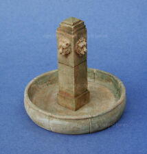 Miniature Dollhouse Aged Color Fountain 1:12 Scale New