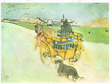 PUBLICITE  1969   LITHOGRAPHIE  TOULOUSE -LAUTREC  La partie de Campagne