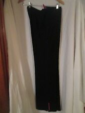 Prada Black Ski Style Pants Size 44 Ski Style with boot cover Made in Italy EUC