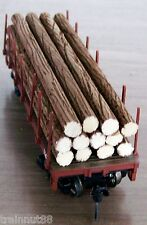 "HO Very Detailed- 12 Pc- 1/4"" R x 4-3/8"" L Real Wood Logs ONLY~ For 34' Flat Car"