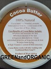 8oz 100%Pure Raw Organic Natural COCOA BUTTER Unrefined Virgin Cacao 1/2Lb/Pound