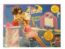 Vintage Barbie Style Magic Styling Salon Playset (Mattel 1988)  No 7325 Rare HTF