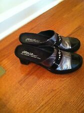 "Helle Comfort ""Daryl"" Leather Clogs/Shoes Ladies Size 9 Euro 40"