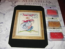 ASHLEY'S ROSES MIRABILIA CROSS STITCH CHART & EMBELLISHMENT MD40, OOP NOW