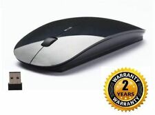 Terabyte Black Wireless Mouse Ultra Sleek Slim 2.4 Ghz Nano Receiver 4 Laptop PC