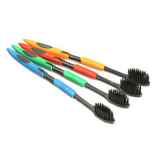 4pcs Ultra Soft Toothbrush Bamboo Charcoal Nano Brush Oral Dental Care Cleaning