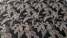 "VINTAGE PRINTED 100% FLAX LINEN FABRIC SOFT NATURAL FIBER 56""W UPHOLSTERY BY YD"
