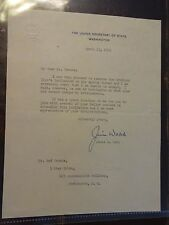 James E. Webb ORIGINAL TYPED Letter to Ned Brooks - April 13, 1950