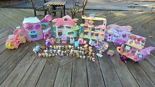 Huge Littlest Pet Shop  Playset House  50 Pets + Accessories