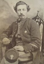 ANTIQUE CIVIL WAR 6th CORPS BADGE 10th MA NJ or PA SOLDIER CROSS KEPI CDV PHOTO