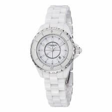 Stuhrling Women's 530 11EW3 Leisure Ceramic Glamour White Ceramic Bracelet Watch