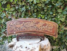 472. Antique Carved Gold Gilt Wood Panel with Bird and Flower