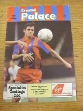 03/09/1988 Crystal Palace v Watford  (Light Crease)