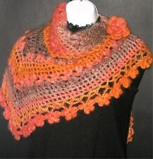 Crochet Pattern - Stunning Vibrant Orange Shawl