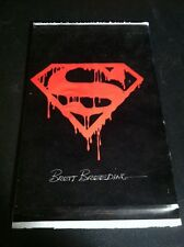 SUPERMAN #75 BLACK POLYBAGGED DEATH ISSUE SIGNED BY BRETT BREEDING!!
