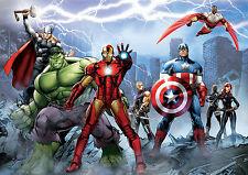 Marvel avengers A4 poster print art iron man/thor/hulk 260GSM