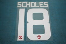 Premier League 2015-2016 Manchester United #18 Scholes HomeKit Nameset Printing