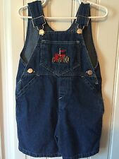 Boys Overalls 3T Toddler Denim Jean Shortalls Tractor Embroidery Made In USA