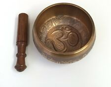 Sacred OM Tibetan Singing Bowl with Om mantra , Buddhist meditation bowl
