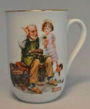 "1982 Norman Rockwell Museum Collectible Mug Cup - "" The Cobbler "" - Mint"