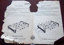 Eagle Hockey game 5100 / 5140 assembly  instructions 1960's-